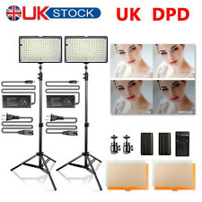 Travor 2 PACK/Set LED Video Light Studio Photography Lighting + Light Stand Kit
