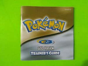 Pokemon Gold Version Trainer's Guide/Instructions Only GBA - Game Boy Advance