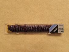 New Speidel 15mm Brown Genuine Leather Lizard Grain Watch Strap
