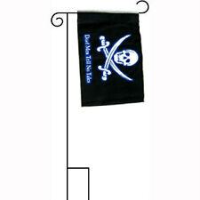 "12x18 12""x18"" Jr Pirate Deadmen Tell No Tales Sleeved w/ Garden Stand Flag"