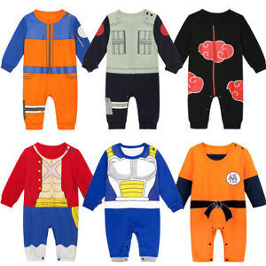 Baby Boys Romper Anime Costume Infant Dragon Ball Z Jumpsuit Outfit Clothes