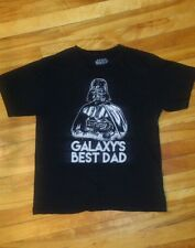 Star Wars Galaxy's Best Dad Used T-shirt Size Mens Large Darth Vader