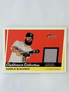 2016 Topps Heritage Clubhouse Collection Relics #CCRCB Charlie Blackmon
