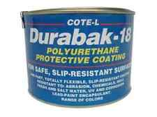 Durabak18 Textured-Qt-Non Slip Coating, Bedliner, Deck Paint For ALL Boats-WHITE