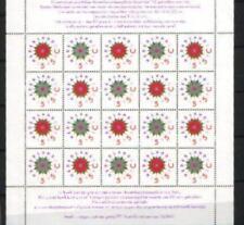 Nederland Vel 1542-1543 Decemberzegels 1992 -   Postfris Cat waarde € 12