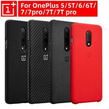 Original OnePlus 7T Pro 7 8 Pro 6T 5T 6 5 Sandstone Nylon Bumper Back Cover Case