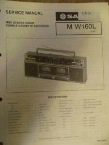 Sanyo M-W160L (UK)  Stereo Radio Cassette  Original Service Manual