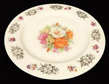 11 in Cabinet plate pink orange white & gold flowers gold trim could be Bavarian