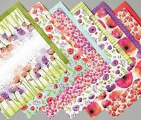 Stampin Up! PEACEFUL POPPIES DSP 12 sheets 6 x 6 Designer Series Scrapbook Paper