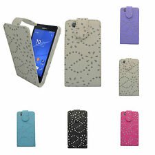 CASE FOR SONY XPERIA Z3 MINI GLITTER FLIP PU LEATHER POUCH PHONE COVER
