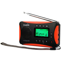 TIVDIO DE-27 World Band Radio Digital DSP Receiver FM/ MW / SW Radio Alarm clock