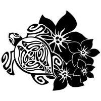 Tortue hibiscus autocollant stickers 8