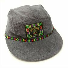 Billabong 5 Panel Washed Denim Strapback Hat Vintage 1990s DeadStock Surf Beach