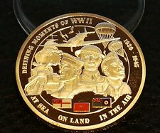 COMMEMORATIVE DUNKIRK REMEMBRANCE SILVER LAYERED WW2 COIN
