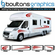 MOTORHOME STRIPES - Camper Van RV Decals Horsebox Caravan Stickers Graphics SS2