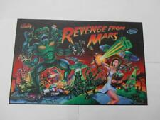 Revenge From Mars Pinball Translite Mr Pinball Sales, Importer & Print Master