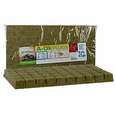 "Grodan 2"" x 2 inch 50 Sheet Rockwool Stonewool A OK Starter Plugs Growing Media"