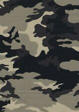 Fat Quarter gris/Camuflaje verde poli BI Tela Elástica