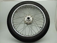 Honda CB360 CB 360 #6126 Chrome Front Wheel & Tire