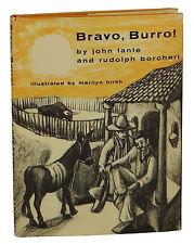 BRAVO, BURRO! by JOHN FANTE ~ First Edition 1970 ~ 1st ~ Ask the Dust ~ Borchert