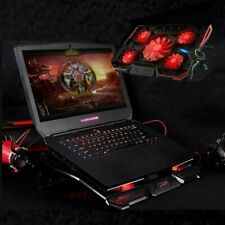 More details for 5 powerful fans laptop cooler stand quiet gaming cooling pad mat tilt for 12-17
