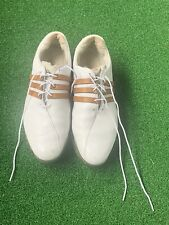 Adidas ClimaProof adiPURE Mens Leather Golf Shoes Sz 13 White Traxion Softspikes