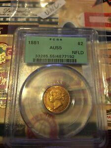 1881 Newfoundland Gold $2