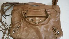SAC BESSO LEATHER CAMEL COLOR MOTORCYCLE BAG INSPIRED BY BALENCIAGA