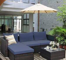 outdoor furniture:5PCS Patio Rattan Furniture Set Sectional Conversation Sofa.
