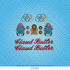 Claud Butler Bicycle Decals Transfers Stickers - Red & Black Text - Set 0700