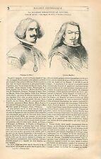 Velasquez de Silva & Esteban Murillo Peintre GRAVURE ANTIQUE OLD PRINT 1838