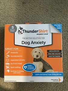 Thundershirt Dog S Small 15-25lbs Solid Gray Best Solution for Anxiety - HGS-T01