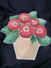 3D Ceramic Fruit Basket Tray Serving Platter Demain Italy 16.5�x16.5�