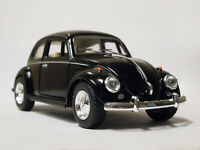 "New 5"" Kinsmart 1967 VW Volkswagen Classical Beetle Diecast Toy Car 1:32 Black"
