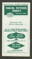 [72040] 1965 NEW YORK CENTRAL SYSTEM PAWLING, PATTERSON & NYC POCKET TIMETABLE