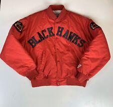 Vintage Swingster Chicago Blackhawks NHL Jacket Coat Ice Hockey Nylon Mens L USA