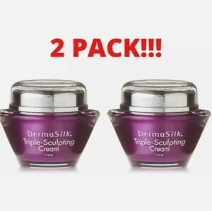 2 Pack Dermasilk Triple Sculpting Anti-Aging Cream 1.7 Fl Oz. New and Sealed