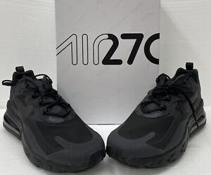 Nike Air Max 270 React Black Oil Grey. Triple Black Size 10 🔥FREE SHIPPING🔥