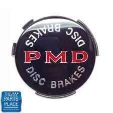 1970-72 Pontiac GTO / LeMans PMD Wheel Cover Emblem W/ Disc Brakes Black - Each