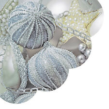 Christmas Paper Round Napkins 24 pcs ∅12.6″ Pearl Baubles Tree Decoration NEW