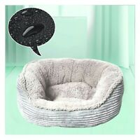 PETS SOFT GREY WASHABLE DOG/PUPPY/CAT BED PAD WARM COSY ROUND CUSHION S/M/L UK