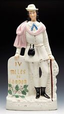 Antique Staffordshire DICK WHITTINGTON Figure 19TH C.