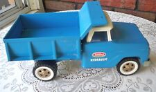"Vintage 1960s Tonka Steel Hydraulic Blue Dump Truck~""13 1/8"""