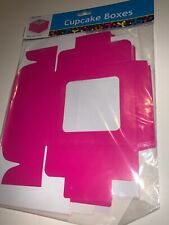 Pack Of Six Pink Cupcake Boxes
