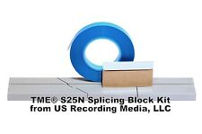 """Splicing Block Kit Open Reel Audio Anodized Professional for 1/4"""" Tape NEW! TME"""