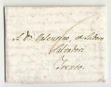1775 Repubblica VENEZIA lettera VERONA-TENTO-TASSA 6 Kr. ROSSA-g298