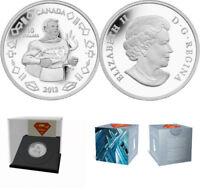 (2) 2013 RCM SUPERMAN (VINTAGE) $10 FINE SILVER COINS