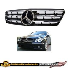 C-Class W203 01-07 Sedan C230 C240 black chrome grille AMG custom emblem star