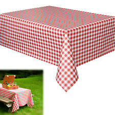 Dazzling Toys Party Vinyl Tablecloth Pack of 6 Red White Checkered Gingham Print