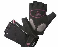 Dare2b Womens Cycling Gloves Black Pink Half Finger Cushioning Large Premium